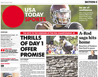 Sports Front News page Layout