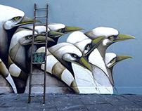 Mural in Bricklane, London