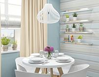 Modern Scandinavian style apartment
