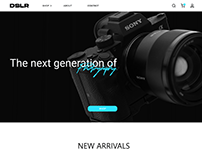 Web Design - DSLR ECommerce