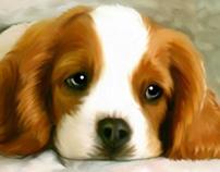 Get your pet portrait painting into original canvas art
