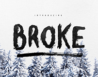 Broke Brush Typeface