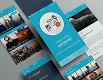 Online News Paper iOS APP UI (Free PSD)
