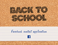 Back to School - Facebook contest application
