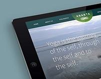 Ananta Yoga Studio Website design