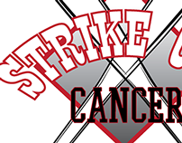 "Corona National Little League ""Strike Out Cancer"" logo"