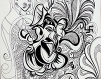 Shree Ganesha Illustration