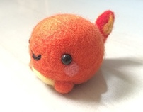 Felted Charmander