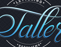 Typoster profile lettering