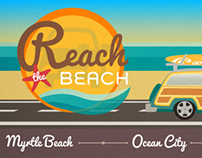 Reach The Beach Email Header and Footer