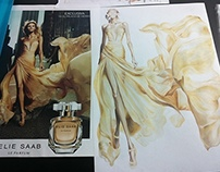 Elie Saab Le Parfum Fashion Illustration