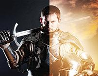 Fusão de imagens - O cavaleiro