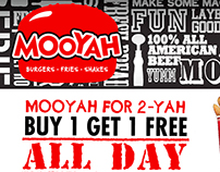 Moes & Mooyah Adverts for The Daily Campus