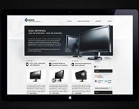 Webdesign: EIZO Newsroom