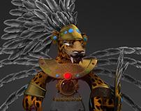 TEZCATLIPOCA 3D MODEL