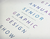 6th Annual Senior Graphic Design Show