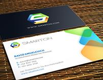 SmartOn Logo & Business Card