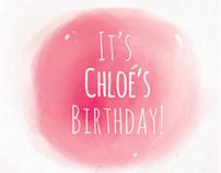 Birthday Invitation - illustration