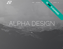 AWWWARDS WEBSITE - Alpha Design Webdesign Awwwards