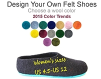 Design Your Own Felt Slippers in Color Trends 2015