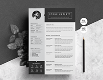 Resume|CV Template 2 Pages