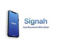 Signah UI Design