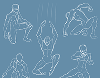 Male Figure Drawing: Action Poses