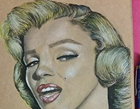 Marilyn Monroe Drawing, took 3 hours :)