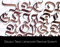Double Trase Latinsiert Fraktur Schrift