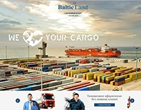 "New website for customs broker ""BalticLand"""