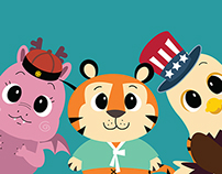 Animal Character Illustrations for Kids