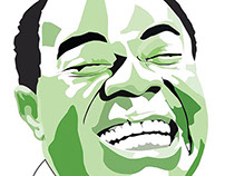 Louis Armstrong Poster (Jazz Legends)