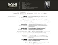 Résume / portfolio design before Behance