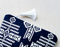 Navy BlueTribal Pouch