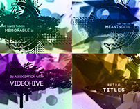 Retro Titles - After Effects Template Videohive