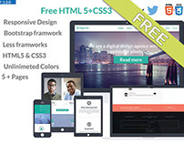 Free HTML5+CSS3  theme