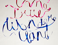 Ribbon Typography