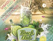 """Cartel y Flyer """"Mojito Beach club"""""""