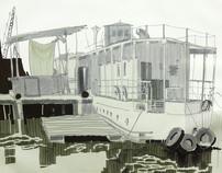 House-boats.