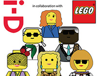 i-D magazine covers + Lego