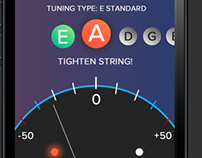Guitar Tuner app concept for iPhone