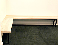 Steel + Poplar Benches