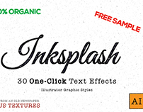 [FREE SAMPLE] Inskplash - Illustrator Text Effects
