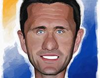 Robbie Keane caricature