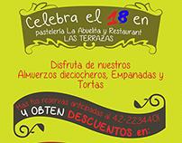 Volante para Restaurant Hotel Las Terrazas, Chillán