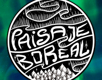 Logo / Sticker Paisaje Boreal music band