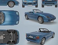 BMW roadster Z1 - 3D model