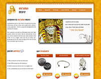 Web Designing and development for saibabastore
