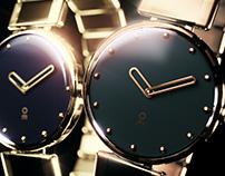 Wrist watch design rendering