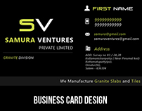 business card designing for samura ventures